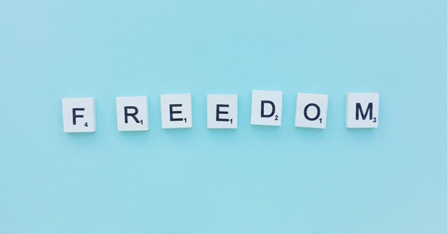 Pension freedom in block letters