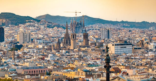 Barcelona Spain from above the city