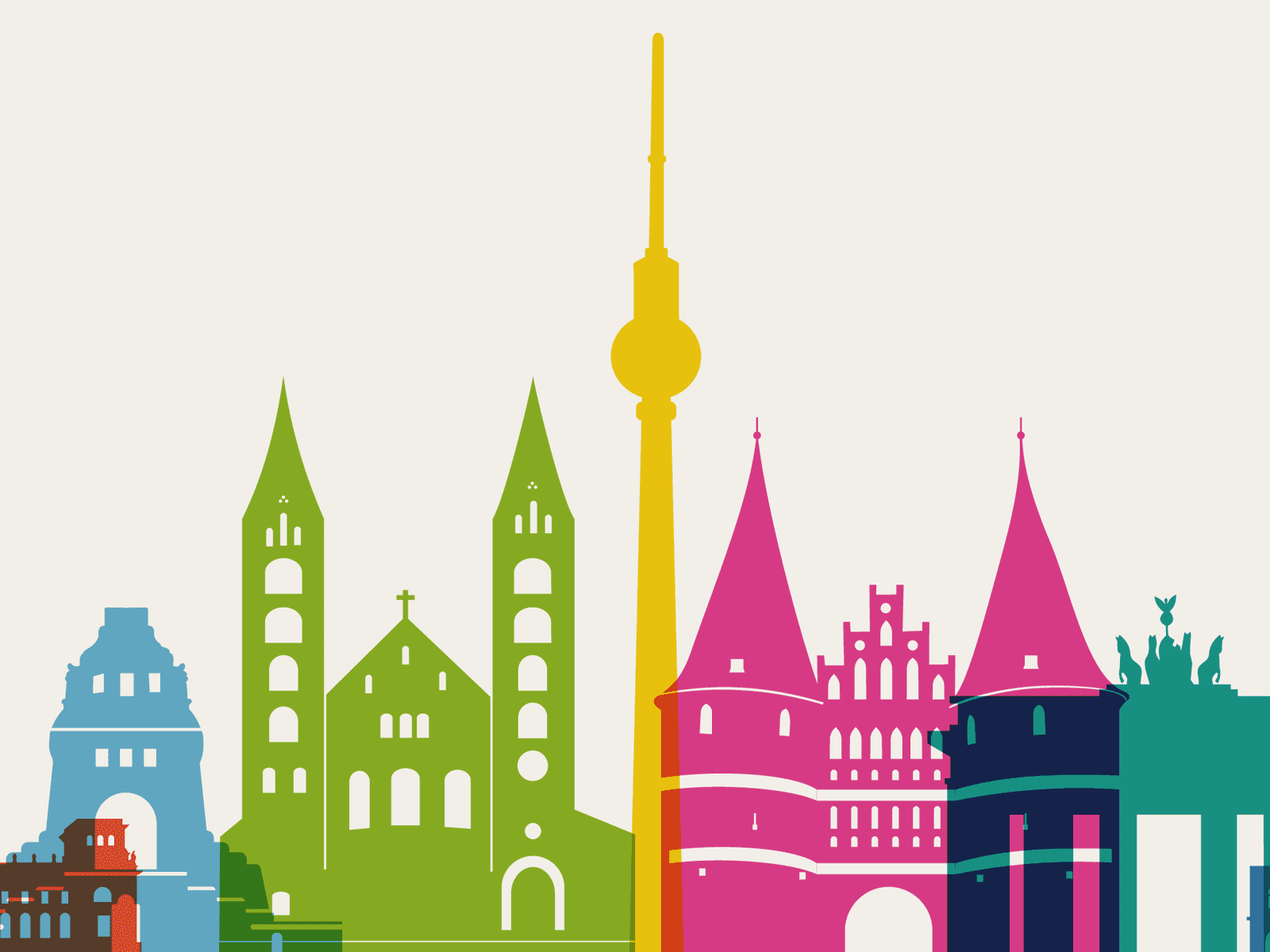 Drawing of the city of Berlin