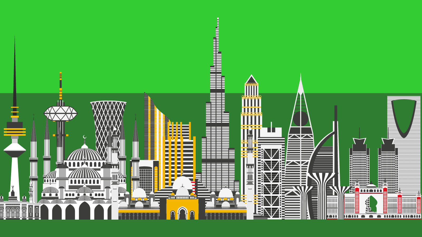 Drawings of the most famous Middle East buildings